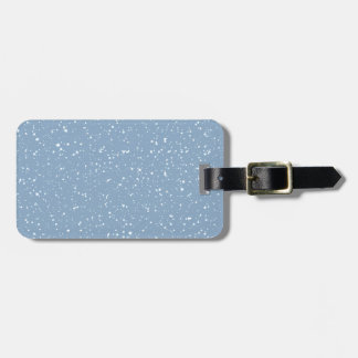 Blue Snowy Warm Winter Wonderland Luggage Tag