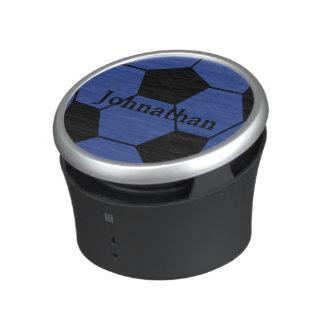 Blue Soccer Ball Custom Monogram Speaker