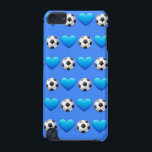 "Blue Soccer Ball iPod 5 Case<br><div class=""desc"">iPod case for soccer players.</div>"