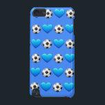 "Blue Soccer Ball iPod 5 Case<br><div class=""desc"">iPod case for soccer players.</div>"