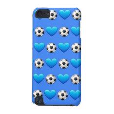 Blue Soccer Ball Ipod 5 Case at Zazzle