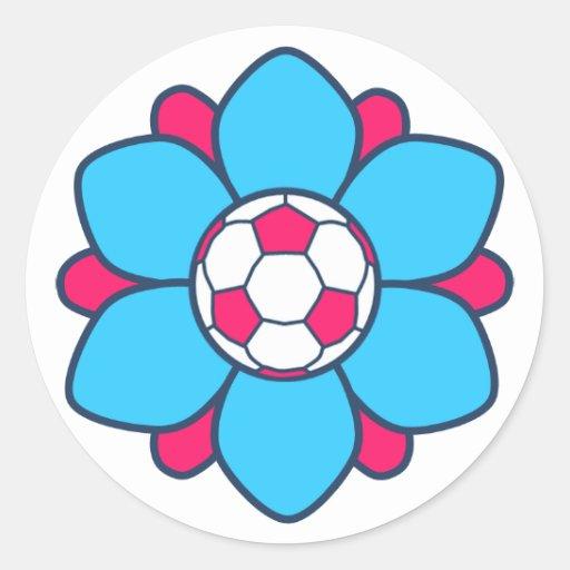 Blue Soccer Girl Stickers