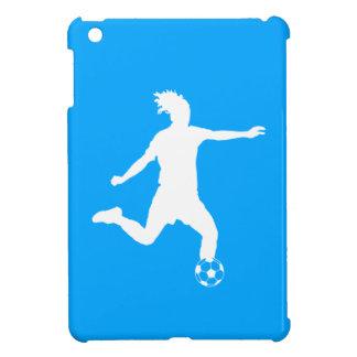 Blue Soccer Silhouette iPad Mini Case