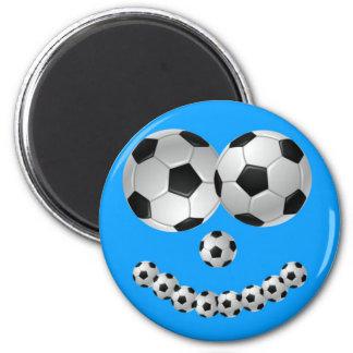 Blue Soccer Smile Magnet