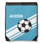 Blue Soccer Stripes Backpack