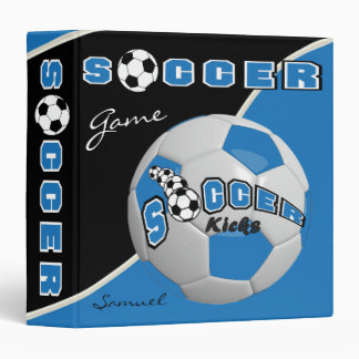 Blue Soccerball Game | Personalize Binders