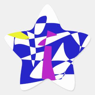 Blue Society Star Stickers