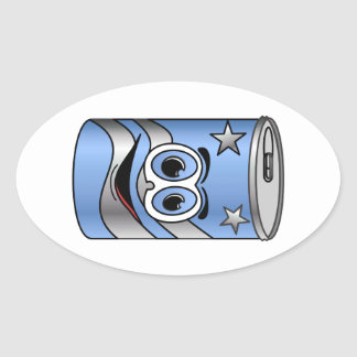 Blue Soda Can Cartoon Sticker