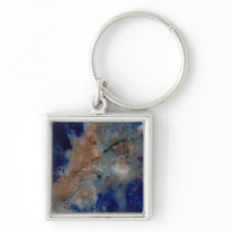 Blue Sodalite Close Up Keychain