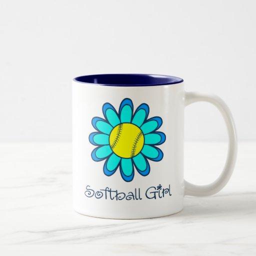 Blue Softball Girl Mug