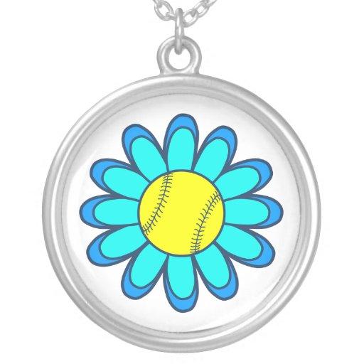 Blue Softball Girl Custom Jewelry