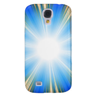 Blue Solar Flare Star Burst Background Galaxy S4 Covers