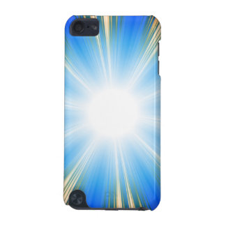 Blue Solar Flare Star Burst Textured iPod Touch (5th Generation) Cover