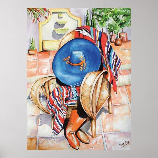 Blue Sombrero Poster