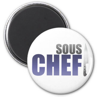 Blue Sous Chef 2 Inch Round Magnet
