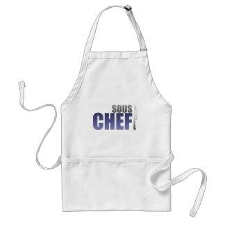 Blue Sous Chef Adult Apron