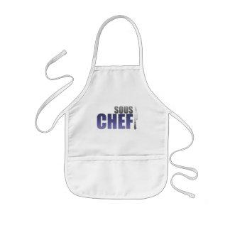 Blue Sous Chef Kids' Apron