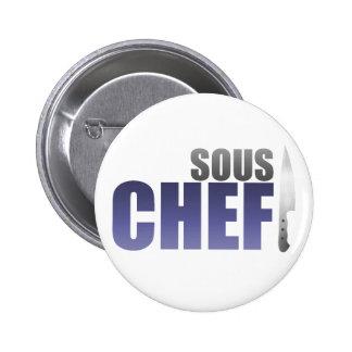 Blue Sous Chef Pinback Button