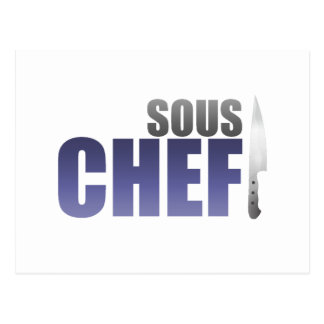 Blue Sous Chef Postcard