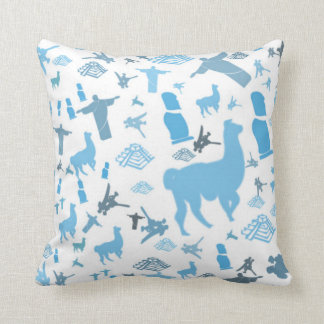Blue South America Pillow