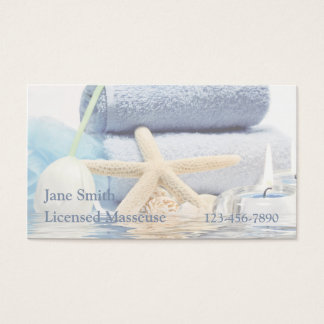 Blue Spa Reflection Business Card