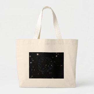 Blue Space Burst Large Tote Bag