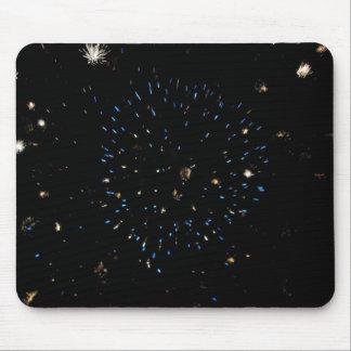 Blue Space Burst Mouse Pad