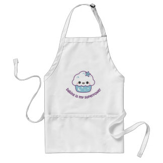 Blue Space Cake Adult Apron