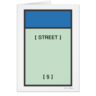 Blue Space Card