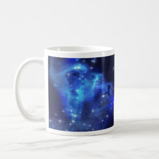 Blue Space Cloud Basic White Mug