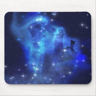 Blue Space Cloud Mouse Pad