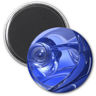Blue Space Corners 2 Inch Round Magnet