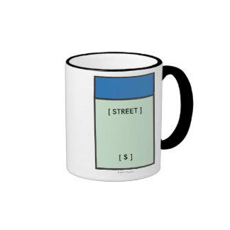 Blue Space Ringer Coffee Mug