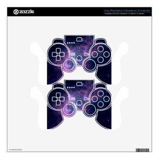 Blue Space Nebula PS3 Controller Skins