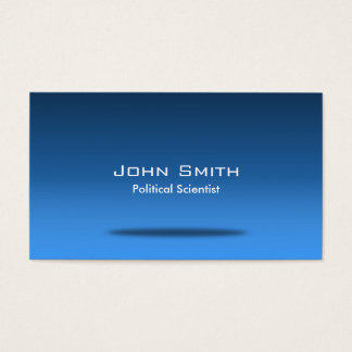 Blue Space Political Scientist Business Card