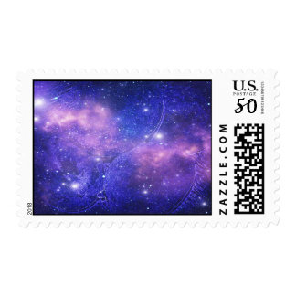 Blue Space Postage