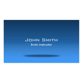 Blue Space Swim Instructor Business Card