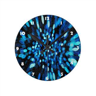 Blue Space Texture Round Wallclock