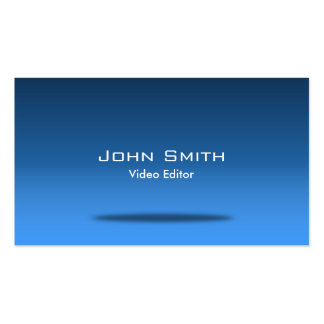 Blue Space Video Editor Business Card