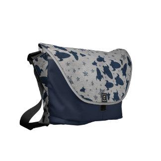 Blue Spaceship Courier Bag