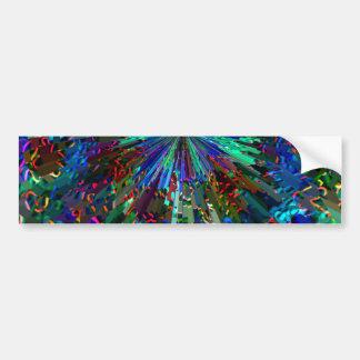 BLUE Sparkle Art  Star Planet Comet Solar Nightsky Bumper Stickers