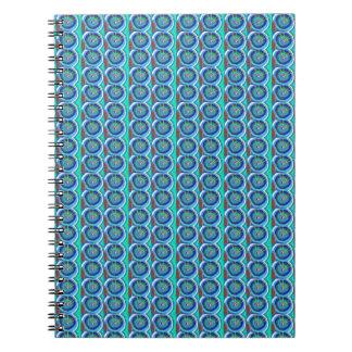 BLUE Sparkle BlueStar Disc by NAVIN JOSHI lowprice Spiral Notebooks