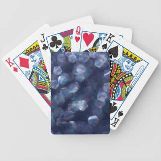 Blue Sparkle Bokeh Lights Bicycle Playing Cards