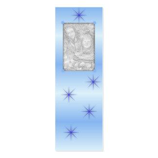 Blue Sparkle Bookmarks Business Card Templates