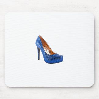 Blue Sparkle High Heel Shoe Fashion Mouse Pad