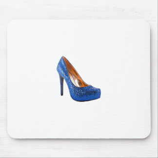 Blue Sparkle High Heel Shoe Fashion Mouse Pads