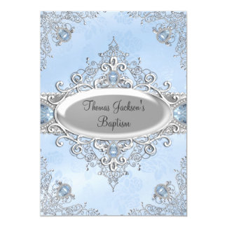 blue sparkle jewel invitation