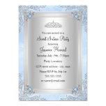 Blue Sparkle Jewel & Tiara Sweet 16 Invitation