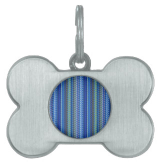 BLUE Sparkle Pattern  GOODluck Charm Graphic GIFTS Pet Name Tag