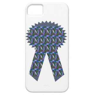 BLUE SPARKLE RIBBON success winner topper lowprice iPhone 5 Cases